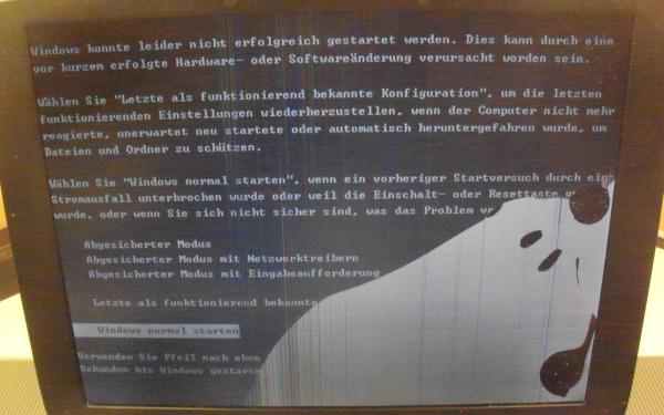 Defektes 15,0 Zoll Display beim Thinkpad R52