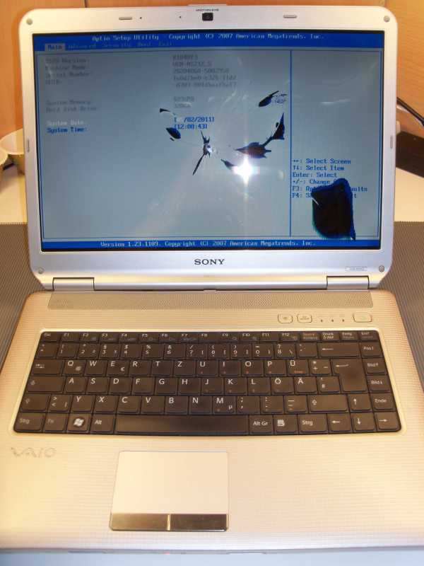 Defektes 15,4 Zoll Display beim Acer Aspire 5315