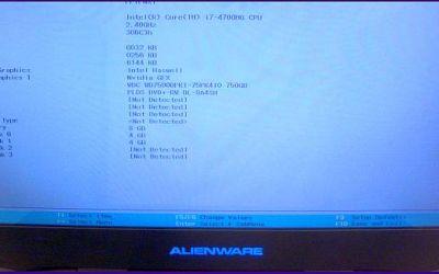 Display im Alienware M17x Laptop wurde gewechselt.