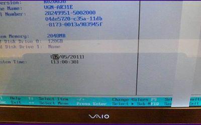 Sony VAIO VGN-AR31 jat ein Display-Spaltenfehler