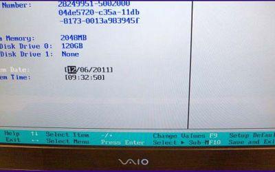 Der Bildschirm im VAIO AR31 wurde ausgetauscht