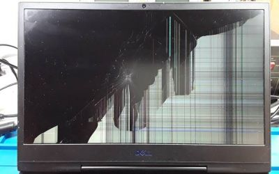 Laptop Bildschirm im Dell Notebook reparieren