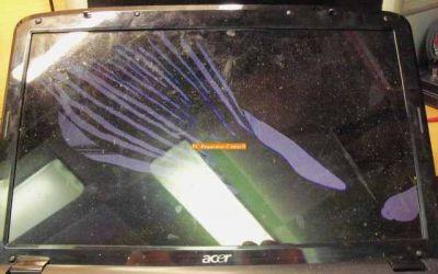 Display im Acer Aspire Laptop ist gebrochen.