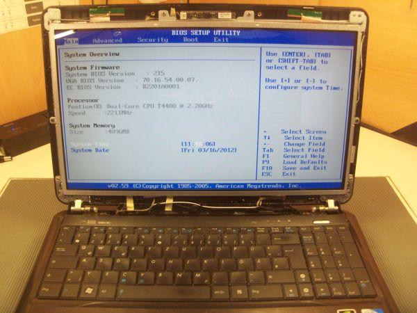Defektes Display beim Asus A53S wurde ausgetauscht